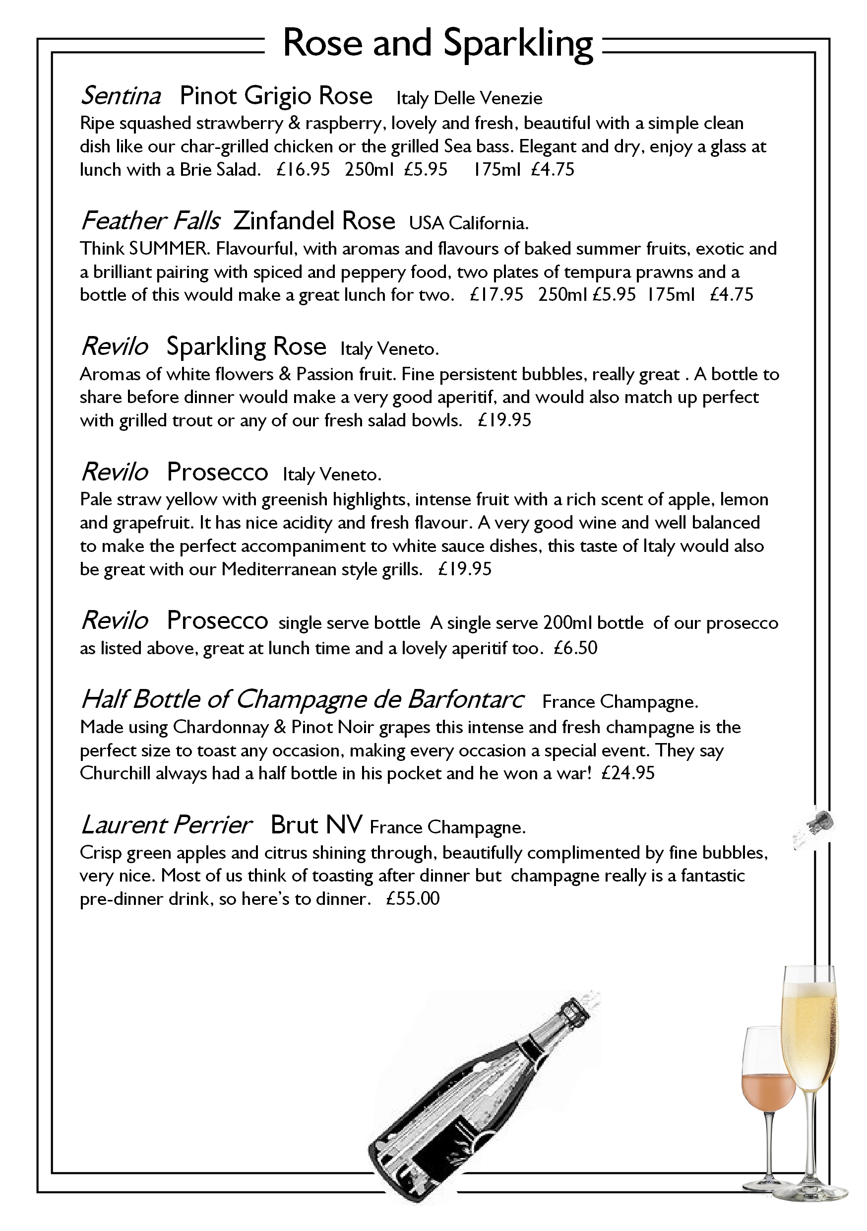 page 10 champagnes proseccos roses and bubbles callenders restaurant hailsham