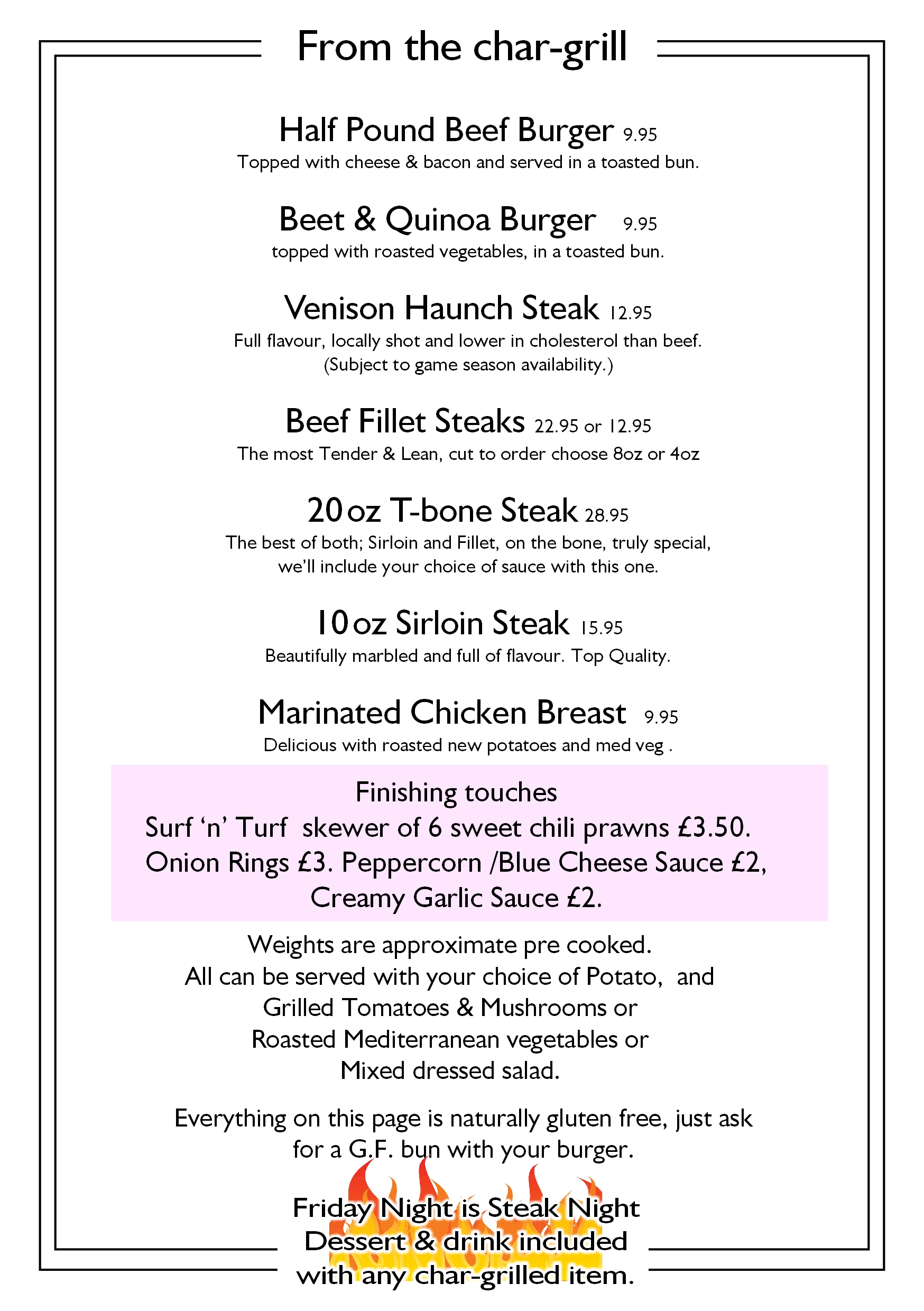 page 4 from the chargrill callenders restaurant hailsham